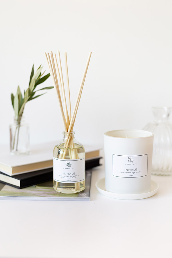 A Happy Life Candle & Diffuser
